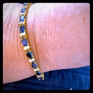 Jewelry - tennis bracelet sapphire and diamond rhinestone